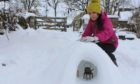 Gayle took advantage of the amazing snow across Scotland and crafted some snow sculptures including this igloo.