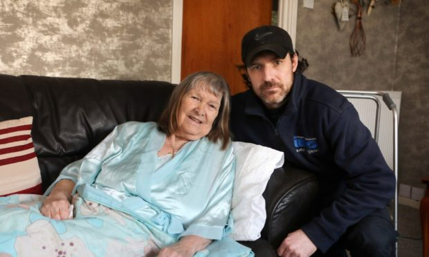 Elizabeth Munro from Invergowrie with her grandson Barry Mann.