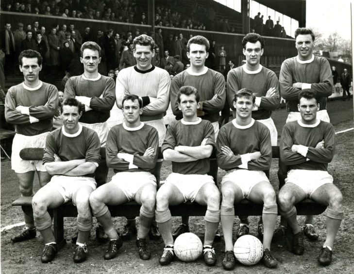 Sir Alex Ferguson as a St Johnstone player in 1963.