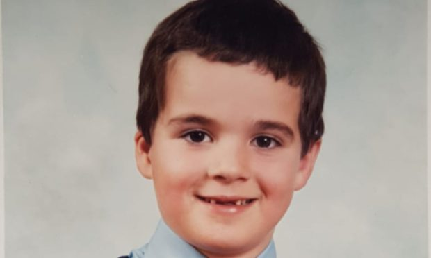 Jamie Murray as a child. He died in September 2020 after years of drug use.
