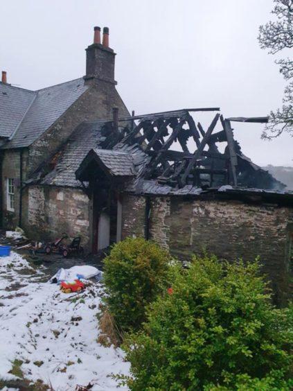 The blaze-hit home.
