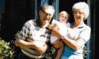Joel and Joyce Greenwood, with granddaughter Harriet.