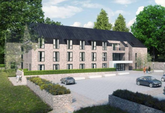 An artist's impression of the care home.