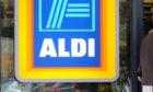 An Aldi store sign.