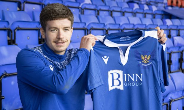Charlie Gilmour pictured at McDiarmid Park this afternoon after signing for St Johnstone..... 01.02.21 ****(PIC AND STORY EMBARGOED UNTIL 6pm on the 01.02.21)***** Picture by Graeme Hart. Copyright Perthshire Picture Agency Tel: 01738 623350 Mobile: 07990 594431