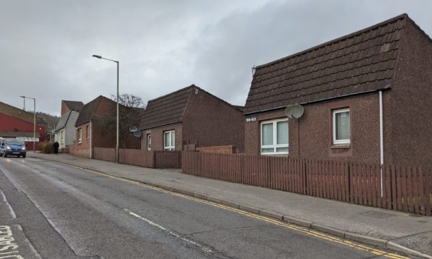 The sheltered housing on Kinghorne Road. Dundee.