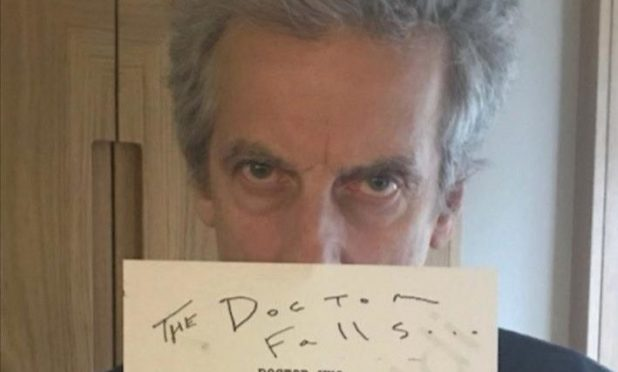 Peter Capaldi with the sought-after script