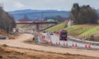 A9 dualling works between Luncarty and Birnam.