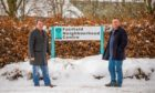 Councillors John Rebbeck and Ian Massie at the site of the former Fairfield Neighbourhood Centre.