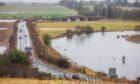 Flooding around the A923 near Coupar Angus.