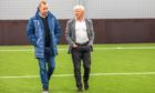 Dundee head of academy Stephen Wright and technical director Gordon Strachan.