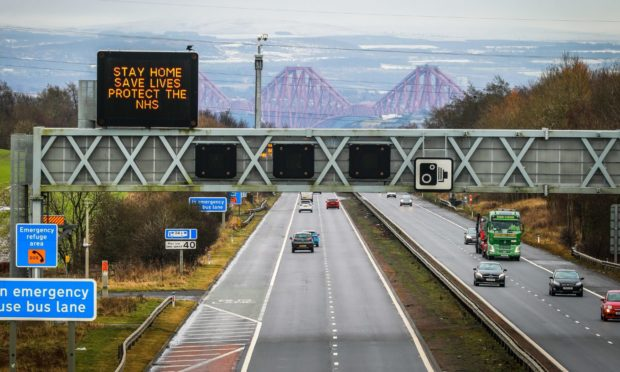The M90 Edinburgh to Perth road near Dunfermline.
