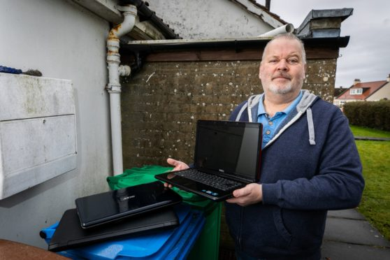 Mike Saint has refurbished more than 150 obsolete laptops for for families in just four weeks.