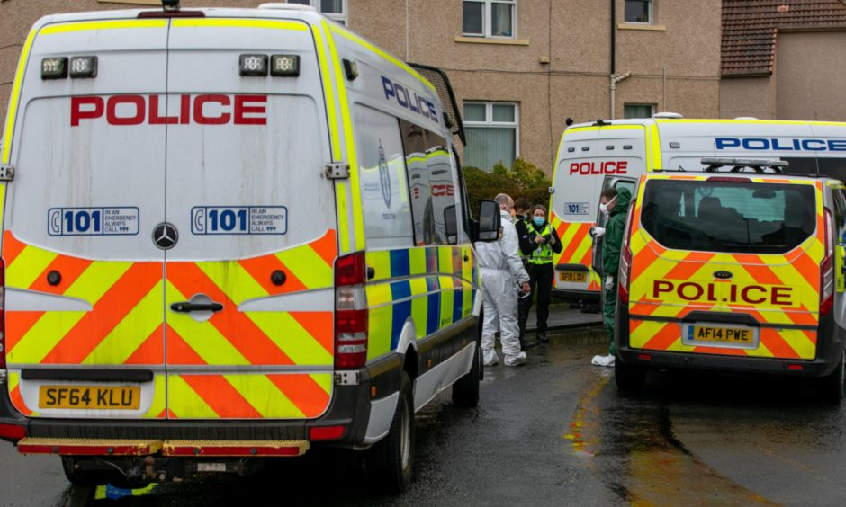The police incident in Cardenden.
