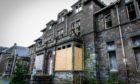 Derelict Strathmartine Hospital.