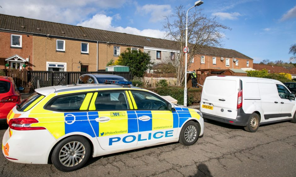 Police activity on Uist Road, Glenrothes.