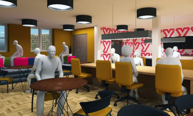 Artist's impressions have been produced by the YMCA Tayside's Y Media Team