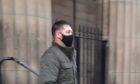 Scott Thoms leaving Perth Sheriff Court.