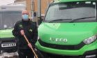 Shaun Dickson, who works at Asda's Milton store, was spotted as he was making deliveries in Monifieth earlier this week.