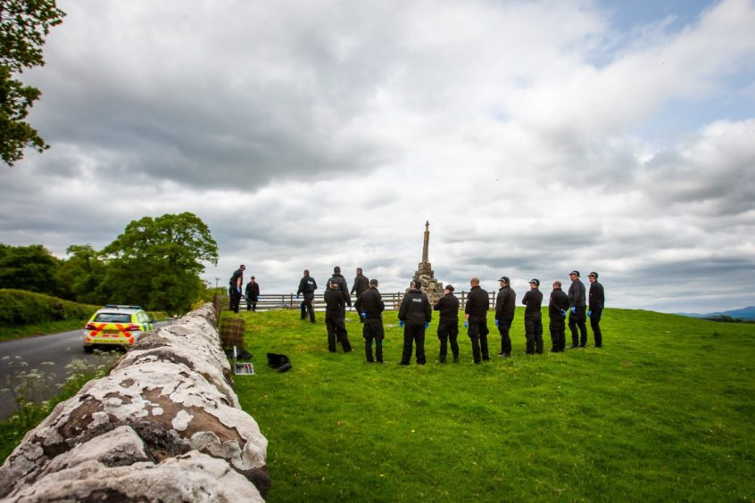 Police search alongside Maggie Wall Memorial following the death of Annalise Johnstone.