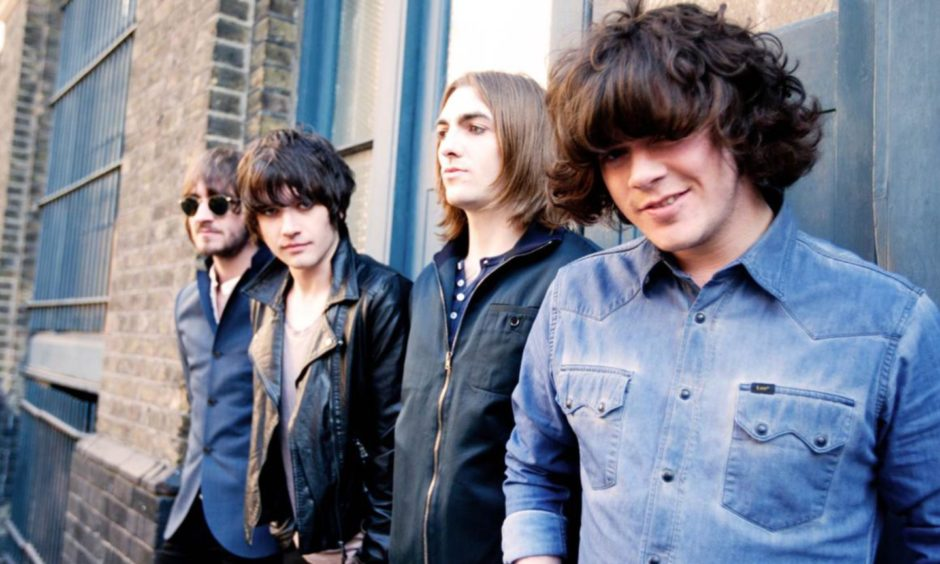 An early photo of Dundee rockers The View.