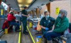 Pic of Scottish Ambulance Service's mobile vaccine bus.