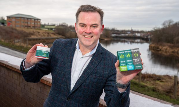 Nick Tulloch, chief executive of Voyager Life Limited, with some of his CBD products.