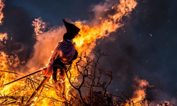 Burning a witch effigy is a Danish midsummer tradition