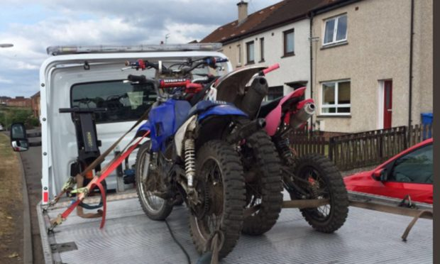 Levenmouth illegal bikers behaviour