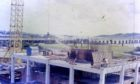 Tayside House under construction in 1972 in one of the photographs brought to life again.