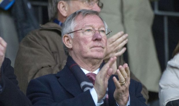 Sir Alex Ferguson at McDiarmid Park in 2013.