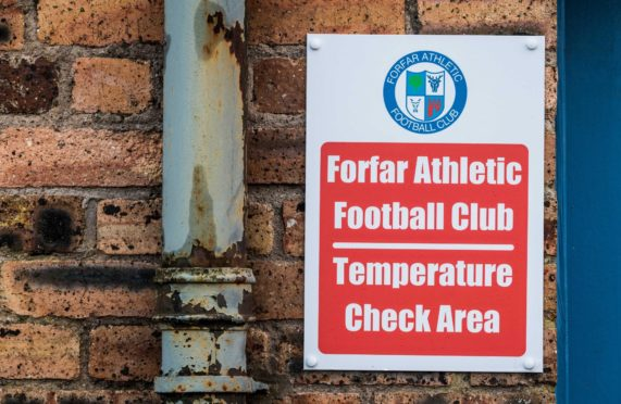 Forfar are one of the clubs who may not see any football again this season.