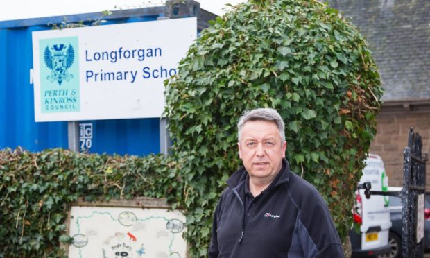 Cllr Angus Forbes at Longforgan Primary