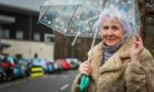 Sandra Savage outside Parkview Primary Care Centre in Carnoustie, where she got her 1st dose of the Covid-19 vaccine.