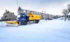 A gritter out and about in Douglas.