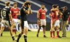 Hamish Watson shows his emotions at the end of Scotland-Wales.