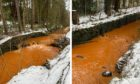 Mystery still surrounds why the burn has become bright orange.