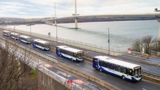 Buses will run between Fife and Edinburgh under the scheme which could start later this year.