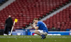 Liam Craig takes the chance to phone home.