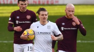 Hearts 2 Dundee 1: Dark Blues give good account of themselves but still fall 18 points behind league leaders at Tynecastle