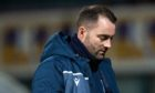 Dundee manager James McPake at full-time.