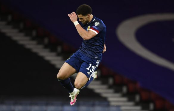 Che Adams played a starring role as Scotland blitzed the Faroe Islands.