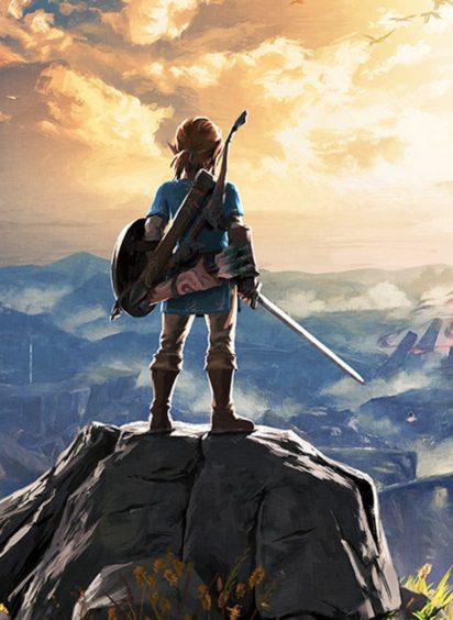Packshot of the Legend of Zelda Breath of the Wild on Nintendo Switch.