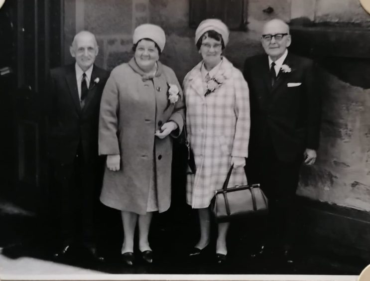 Helen and David Mcintosh are on the left, with Jane's aunt Ruby and uncle Alex. The picture was taken in the late 1960s / early 1970s.