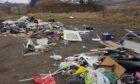 Rubbish has been found dumped in Davie Park, Rattray