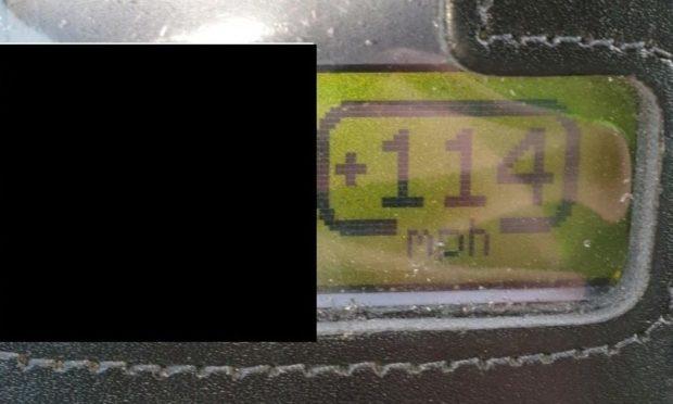 Motorist caught speeding at 114 mph on A9