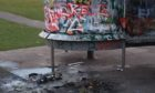 Vandalism and damage done in Lochgelly after police were called to disperse large groups of youths.