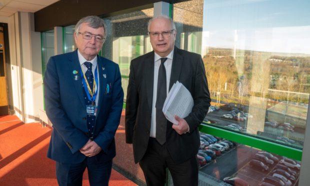 Fife Council co-leaders David Alexander, left, and David Ross.