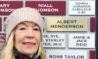 Carol McKenzie proudly shows off a brick at Gayfield, named after her father and former club manager Albert Henderson.