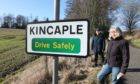 Kincaple residents Carol Pickthall and Allan Burns are just toe who are opposed to the development.